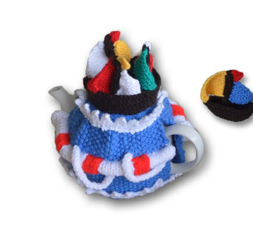 Ahoy! Sailboat Yacht Tea Cosy