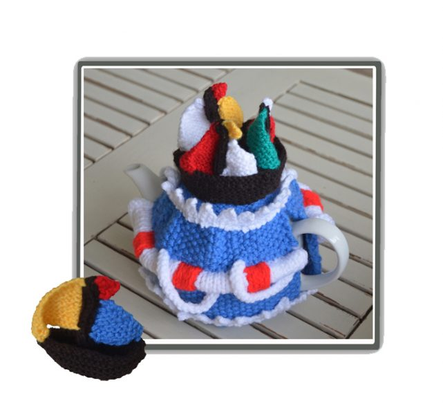 sailboat yacht tea cozy