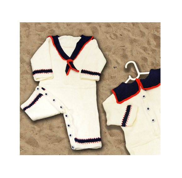 Ahoy! Sailor Onesie Romper for babies 3, 6 & 12 months pattern