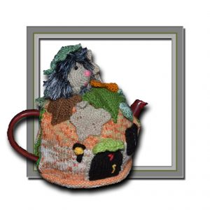 autumn hedgehog tea cosy