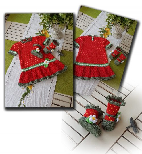 strawberry field dress set image