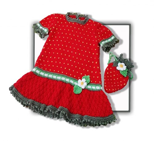 strawberry dress with purse image