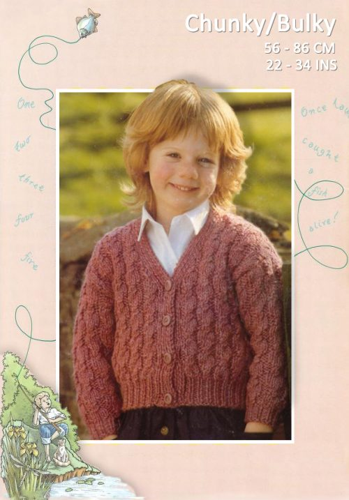 Chunky-Bulky Cable Cardigan by Patons