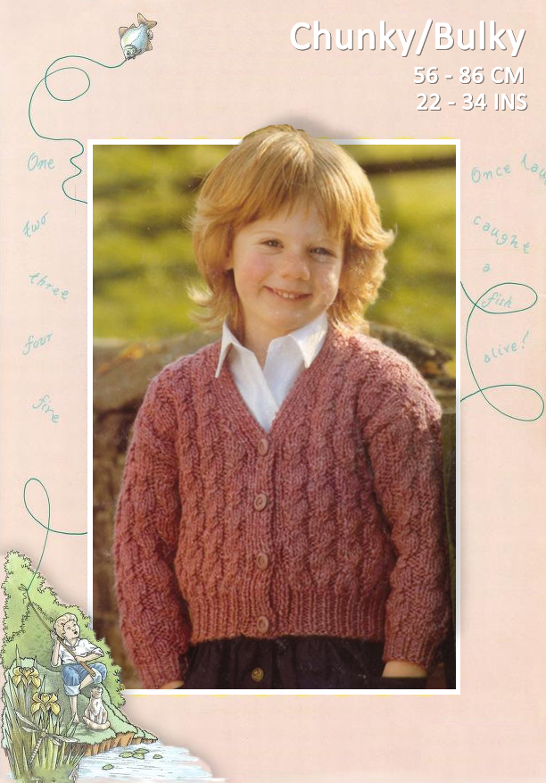 CHUNKY-Bulky Cable Cardigan (Sizes 56-86 cm / 22-34 ins) – Yarnpassion