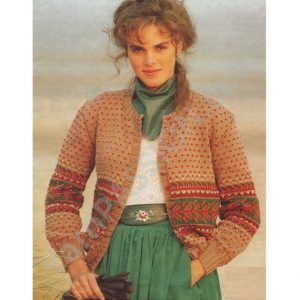 DK - Womens Fair Isle Cardigan Ladies 32 - 38 inch bust