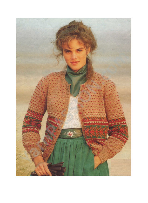 480d352ce0be DK – Womens Fair Isle Cardigan 32 – 38 inch bust – YarnPassion