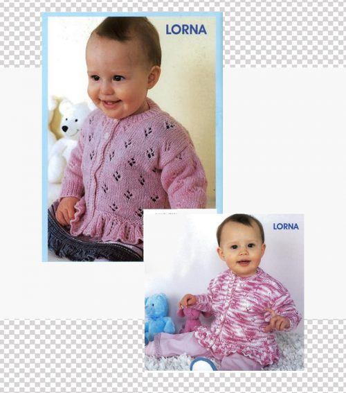 Cardigan in 5 sizes birth to 3 years