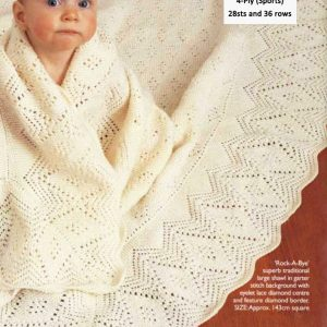 Rock-A-Bye Baby Blanket in Garter Stitch