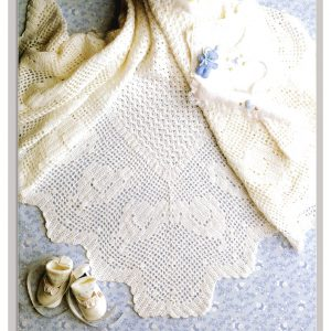 Our Little Chicken Baby Shawl Patons 242 Fairytales