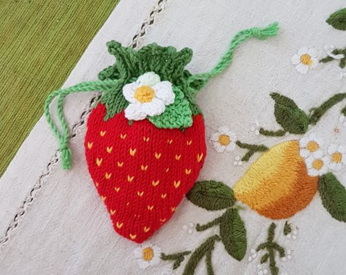 strawberry pouch or dummy holder