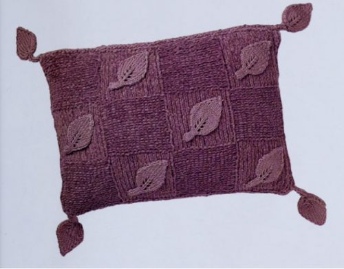 Blanket and pillow with leaf relief