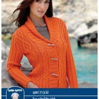 DK – Cable large collar cardigan – 44cm ( 17 1/2 in)