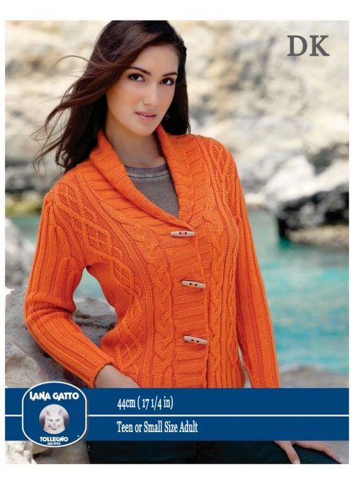 DK - Cable large collar cardigan