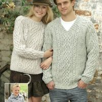 Hayfield Aran Bonus Jumpers for Him and Her