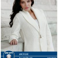 Ladies Fisherman Stitch Cardigan  –  41cm ( 16 1/4 in)