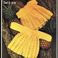 Pineapple Yellow Crochet Baby Dress ( 0 – 12 months )