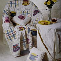 Tea Time Pillow and Blanket