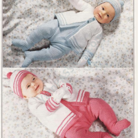 DK His/Hers Baby sets – Vintage 1981 Patons #1821