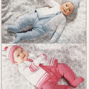 Patons 1821- Baby legging and cardigan set