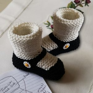 Mary-Jane Daisy Booties