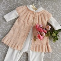 Seamless / No Sewing :  Angel Heart Cardigan (3-18months)