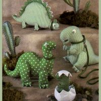 Four Fabric Dinosaurs and an Egg – SEWING