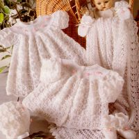 6pce 3ply Knitted Layette in 4 sizes