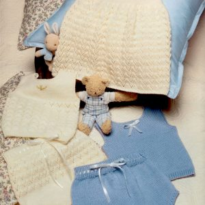 Baby Petticoat, Vest and Pilchers (3 Sizes: 0, 3 and 6 months)