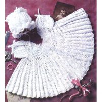 Christening gown set for 0-3 months – Crochet