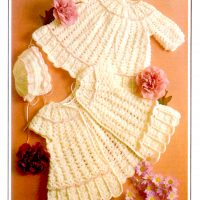 Matinee Coat, Cardigan and Bonnet set  (3 to 6 months)