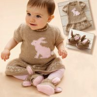 DK Bunny Dress and Booties (6 – 12 months)