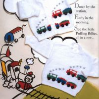 Train Jumper and Cardigan set  – 0 to 18 months