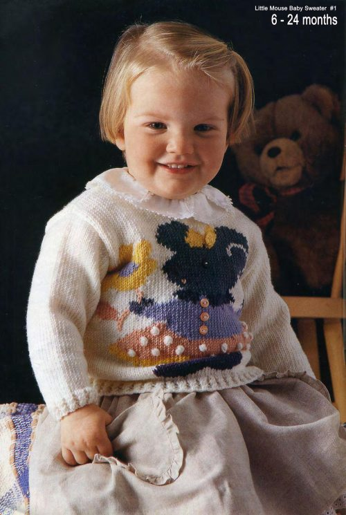 DK - Little Mouse Baby Jumper 6 to 24 months - INSTRUCTIONS