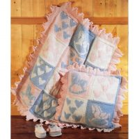 DK and Aran – Rocking Horse Cushion and Cot Blanket