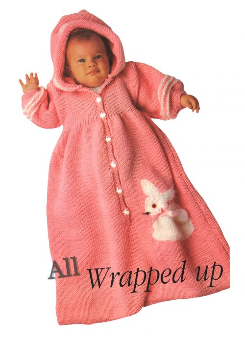 CHUNKY/BULKY - Pink Baby Bunny Sleeping Bag INSTRUCTIONS