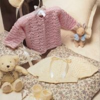Sweat Pea Crochet Cardigan & Knitted Cardigan Set