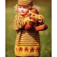 DK – Teddybear Picnic Jumper, Mittens and Beret  (1 to 9 years)