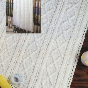 Pretty Diamonds Crochet Baby blanket
