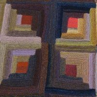 Log Cabin Geometric Throw