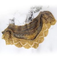 Organic in the Snow Shawl