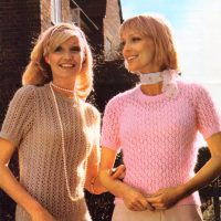 Lace Tops to Knit – Sizes 32 – 40ins  (81-102cm)