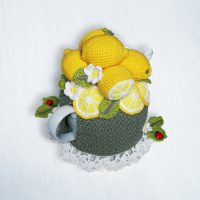 Lemon Tea Cosy – 4-Cup – CROCHET (Copy)