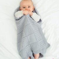 DK All Things Nice Baby Knitted Blanket Shawl