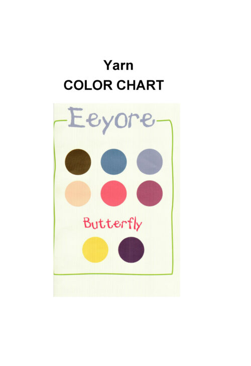 Eeyore of Winnie the Pooh and friends yarn color chart