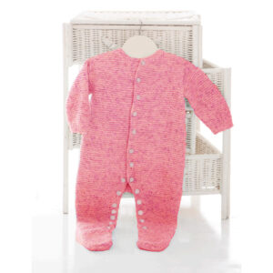 Baby Garter Stitch All in One Romper sleep suit