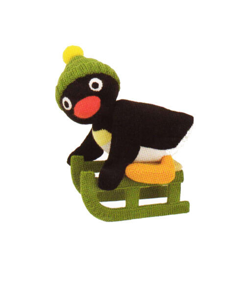 Penguin on sledge knitting pattern