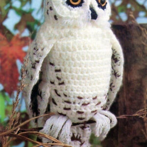 4 Ply Snowy Barn Owl, Amigurumi Plush Stuffed Soft Toy