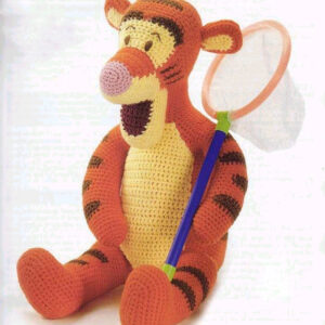 Tigger, Winnie the Pooh friend, Vintage PDF Crochet Pattern plus accessories, Crochet Dragon fly