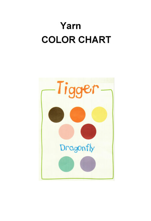 Tigger crochet pattern color chart