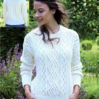 Aran Sweater Aran Jumper, Chunky yarn, in 5 sizes, XSml, SML, M, L, XL